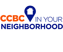 "text ""CCBC in your neighborhood"" on a white background"