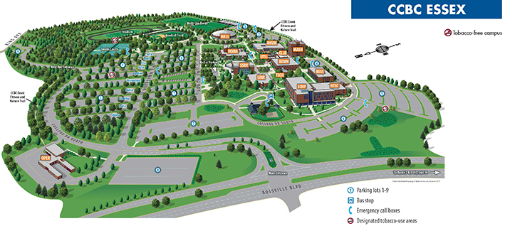 CCBC Essex Campus map