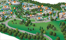 Campus map for CCBC Catonsville