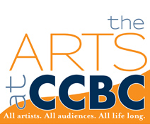 Arts at CCBC logo: all artists all audiences all life long