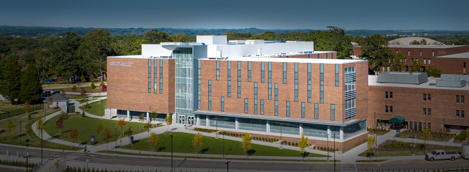 Aerial shot of the new Carol D. Eustis Center for Health Professions