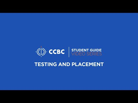 student guide testing and placement